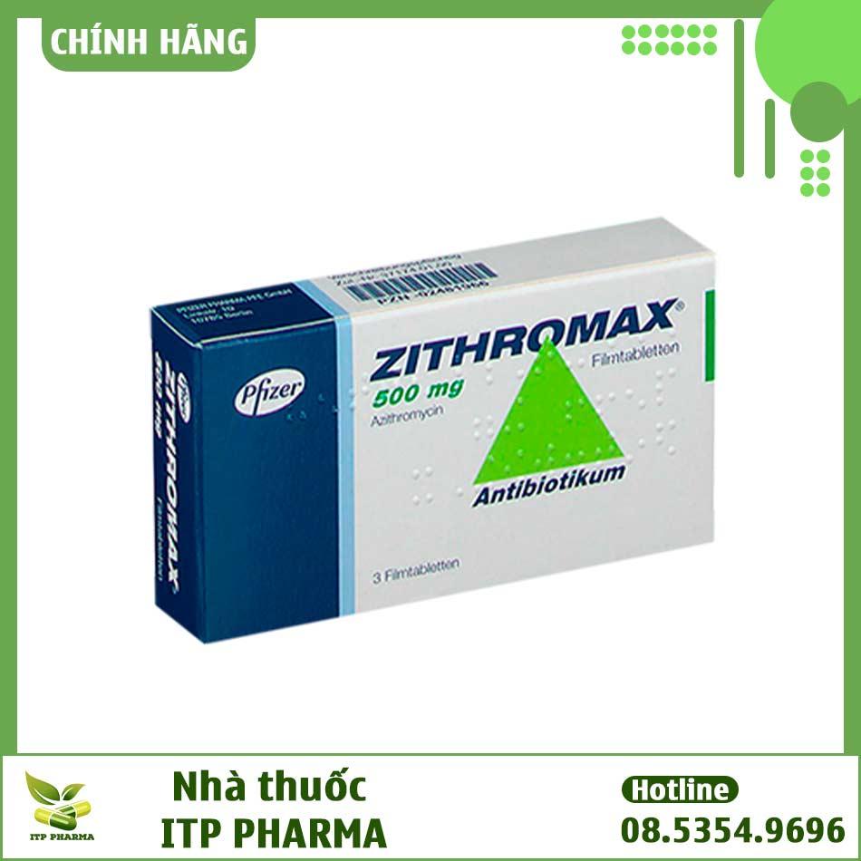Hình ảnh hộp thuốc Zitromax