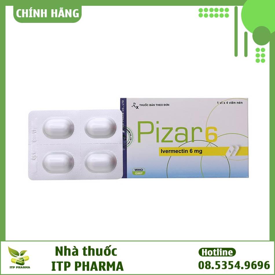 Hình ảnh vỉ thuốc Pizar 6mg