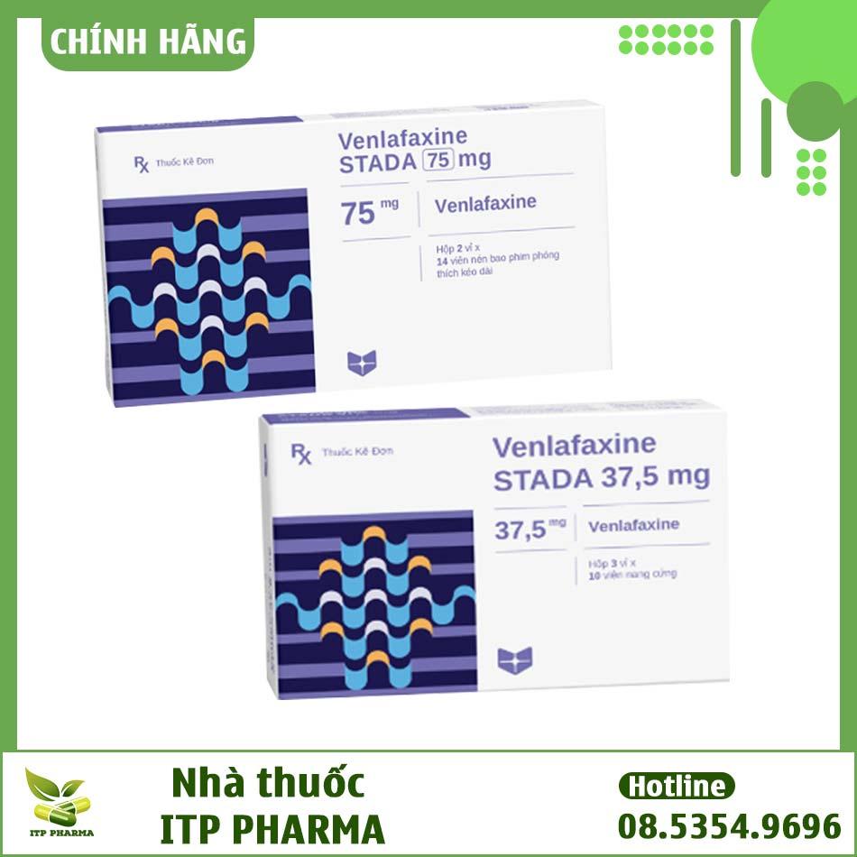 Các dạng hàm lượng của thuốc Venlafaxine Stada