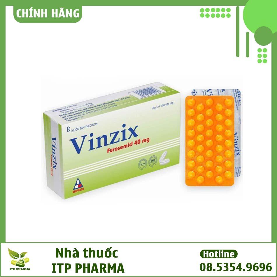 Hình ảnh hộp thuốc Vinzix dạng viên nén