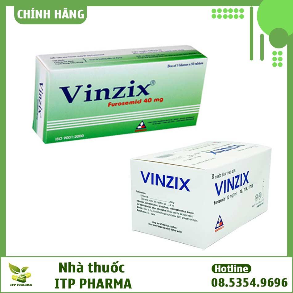 Các dạng bào chế của thuốc Vinzix