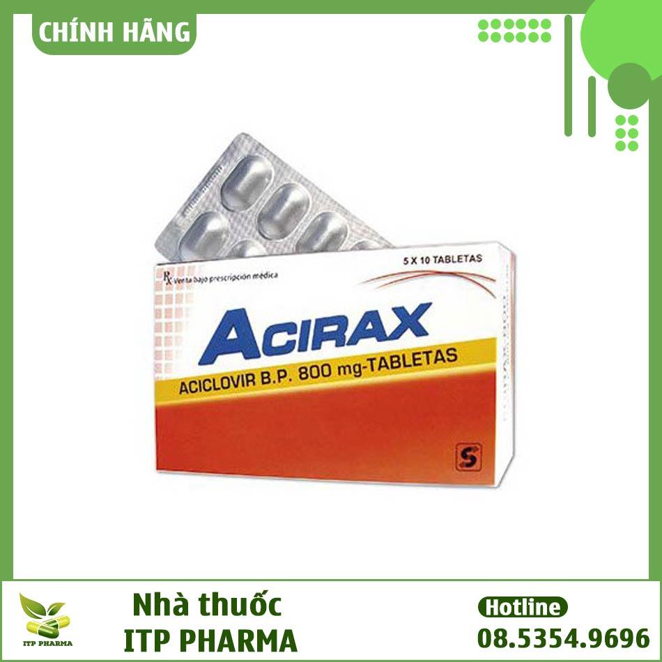 Hình ảnh hộp thuốc Acirax 800mg