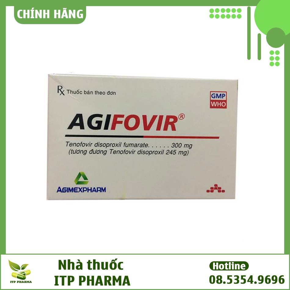 Hình ảnh mặt trước hộp thuốc Agifovir 300mg