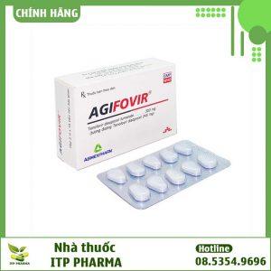 Hình ảnh hộp và vỉ thuốc Agifovir 300mg