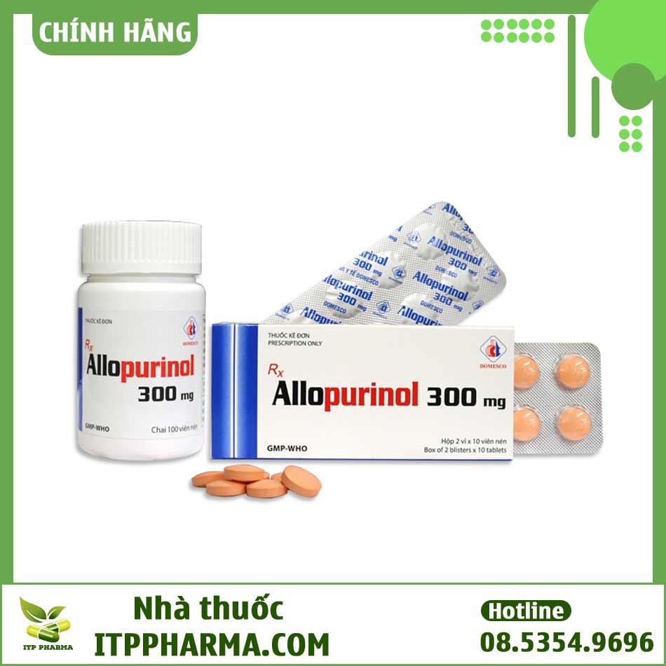Thuốc Allopurinol 300mg điều trị bệnh Gout