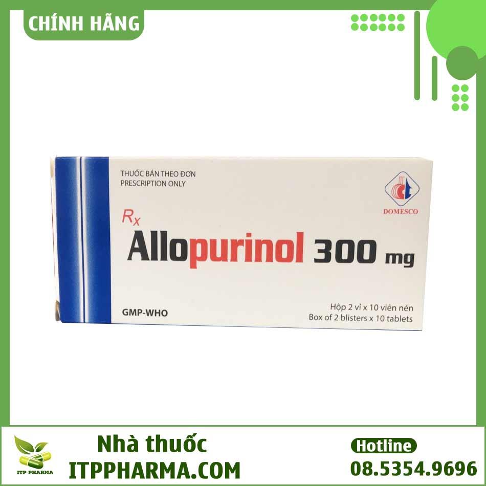 Hộp thuốc Allopurinol 300mg