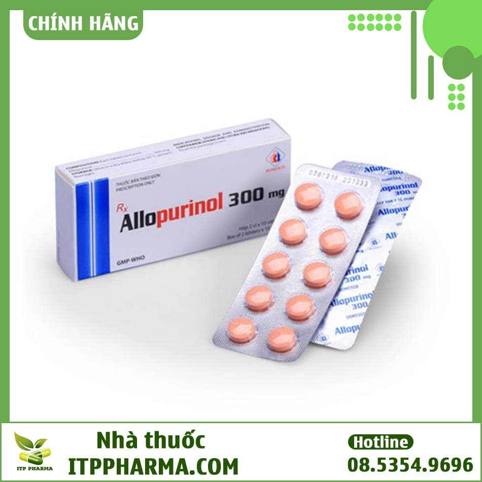 Vỉ thuốc Allopurinol 300mg