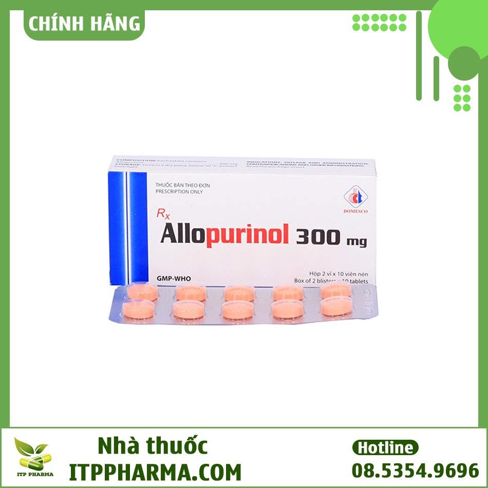 Thuốc điều tị bệnh Gout Allopurinol 300mg