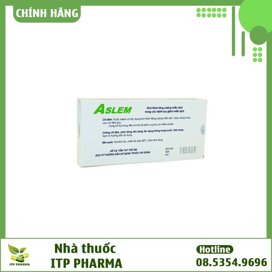 Thuốc Aslem 0,3mg/ml - bổ trợ trong việc điều trị các bệnh ung thư làm kéo dài tuổi thọ của bệnh nhân