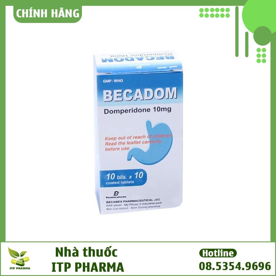Hình ảnh của hộp thuốc Becadom