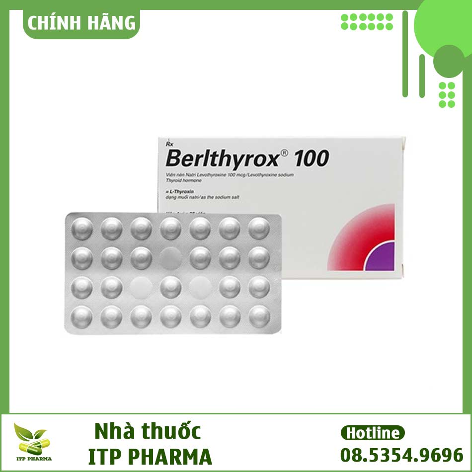 Hình ảnh hộp và vỉ thuốc Berlthyrox