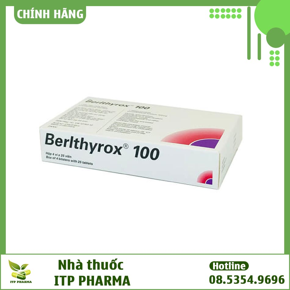 Hình ảnh mặt bên của hộp thuốc Berlthyrox