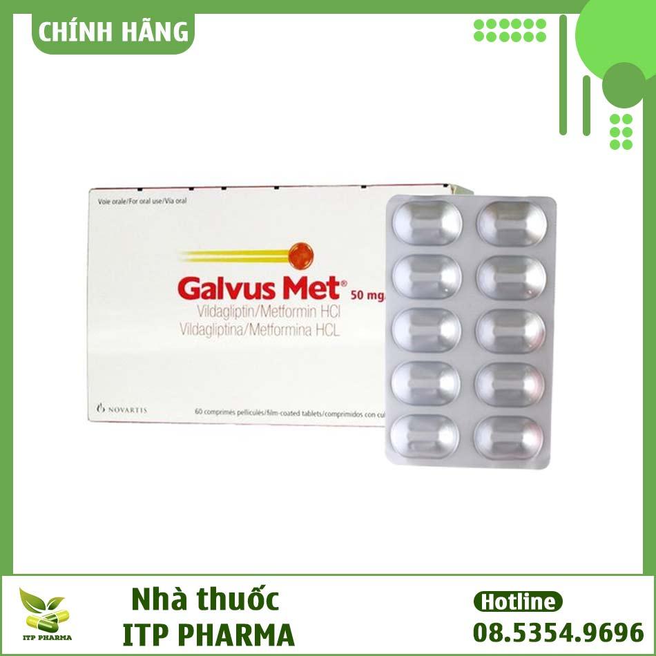 Hình ảnh hộp và vỉ thuốc Galvus Met
