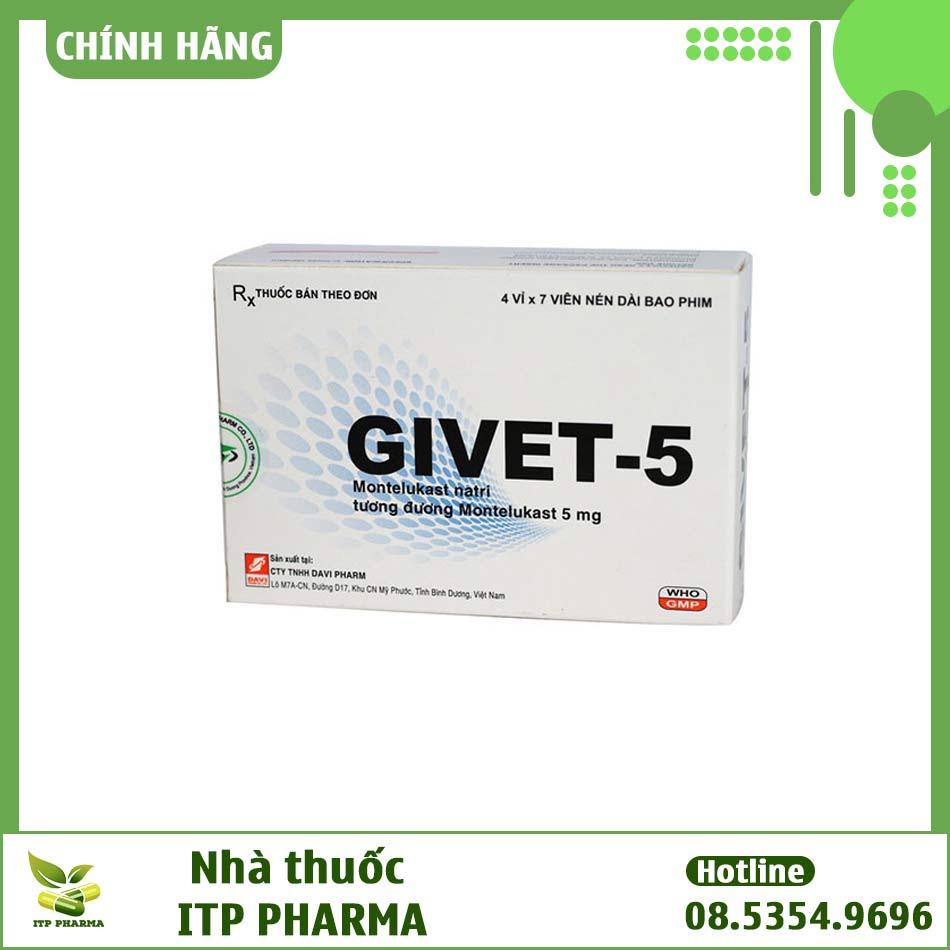 Thành phần của Givet-5 có tác dụng gì?