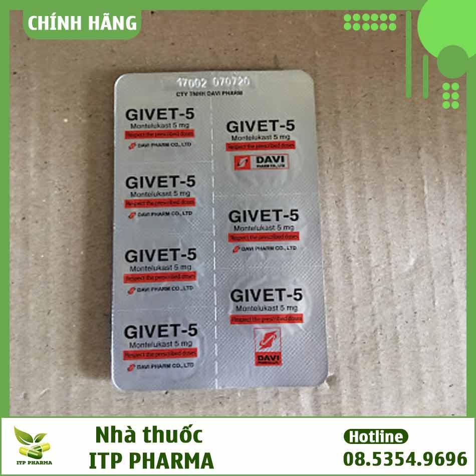 Hình ảnh vỉ thuốc Givet-5