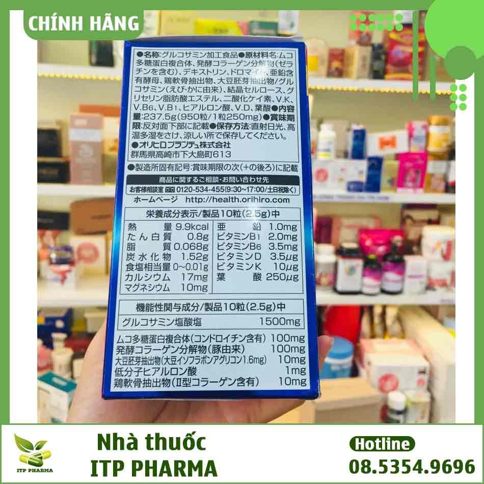 Thành phần của Glucosamine Nhật
