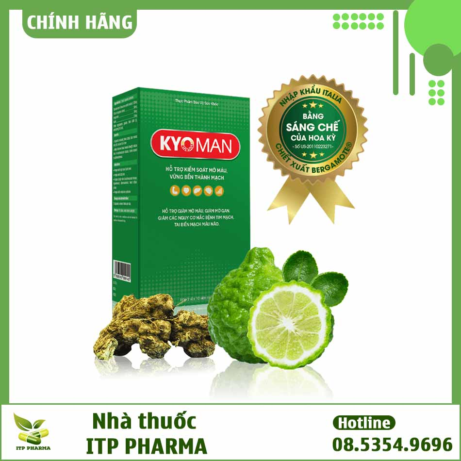 Kyoman - Viên uống thảo dược giảm mỡ máu