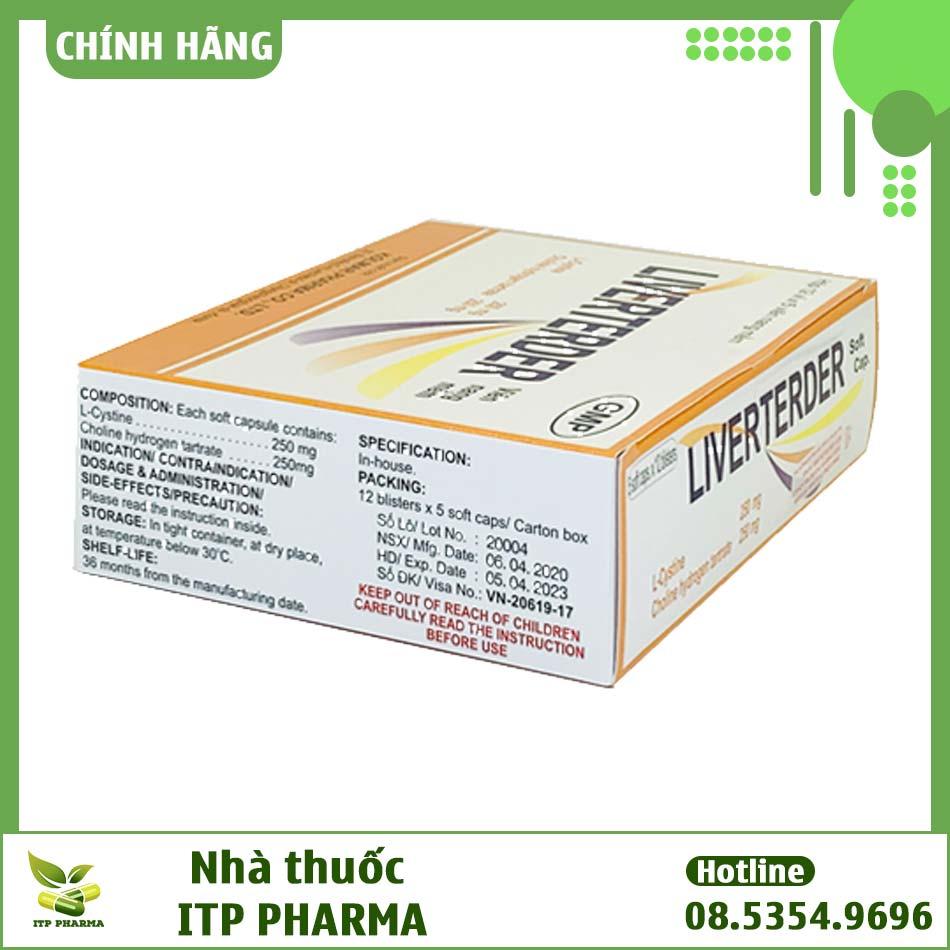Hình ảnh hộp thuốc Liverterder