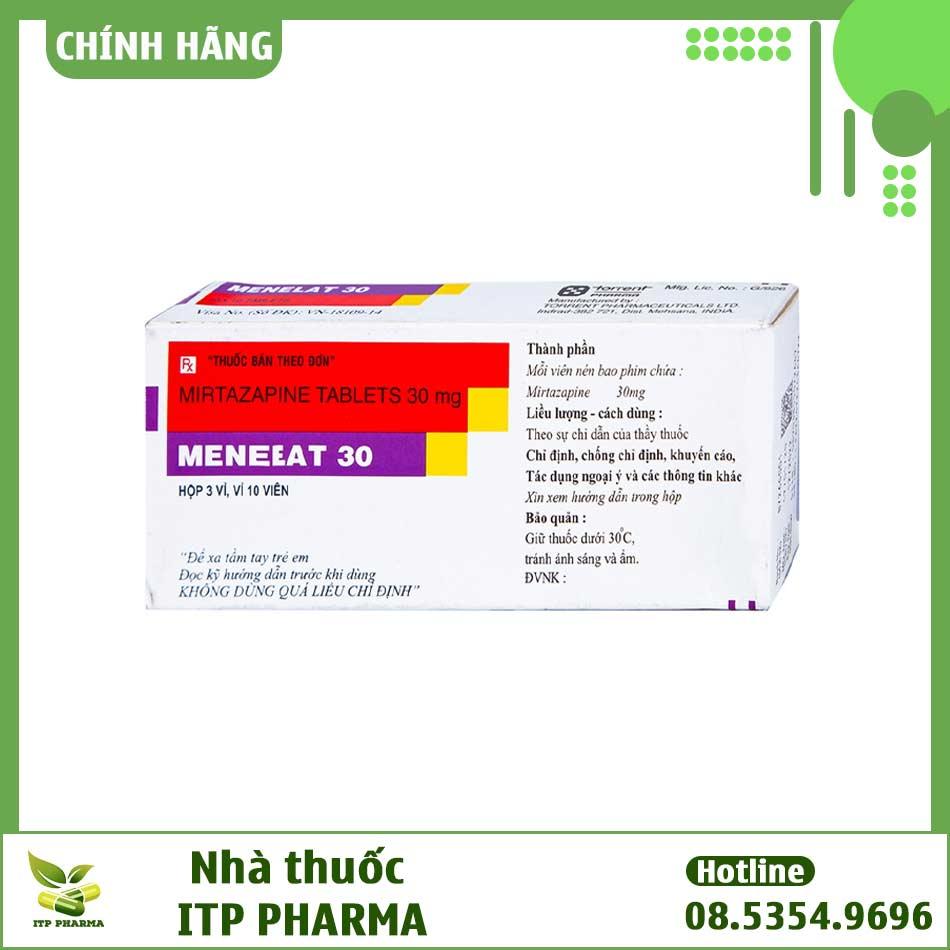 Hình ảnh hộp thuốc Menelat 30mg