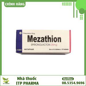 Hình ảnh mặt trước hộp thuốc Mezathion 25mg