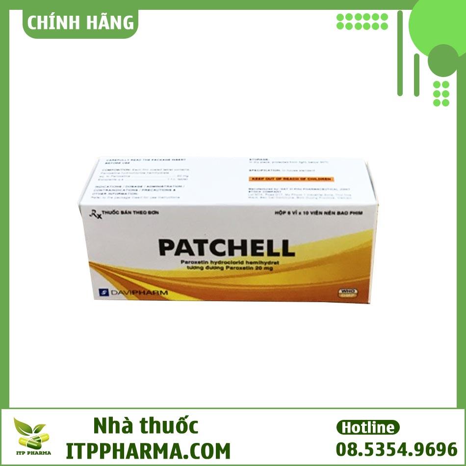 Mặt trên hộp thuốc Patchell chống trầm cảm