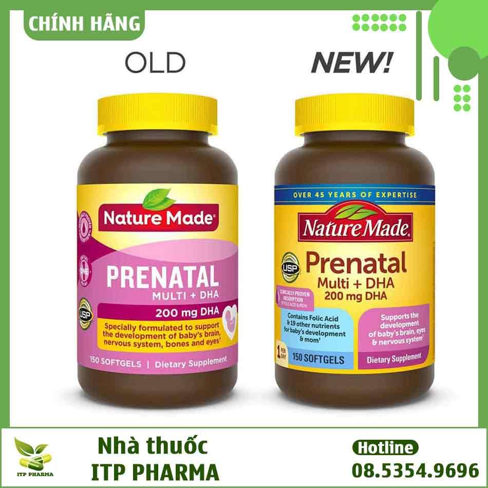 Hình ảnh Prenatal mẫu mới và cũ