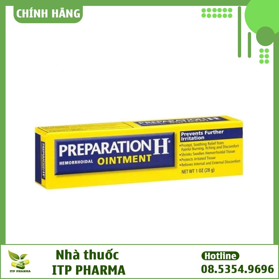 Hình ảnh hộp thuốc bôi trĩ Preparation H