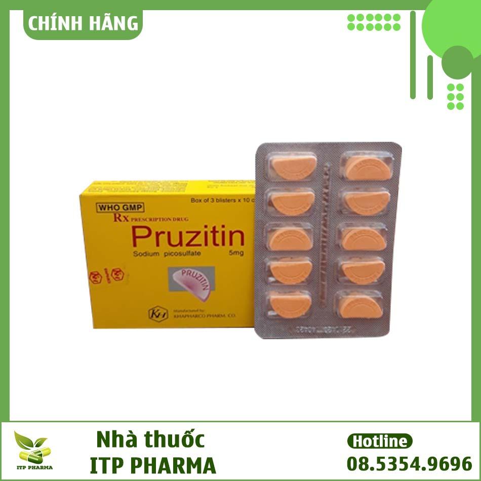 Thuốc Pruzitin bào chế dưới dạng viên nén