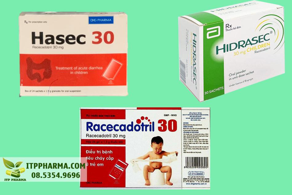 Một số thuốc chứa hoạt chất Racecadotril trên thị trường