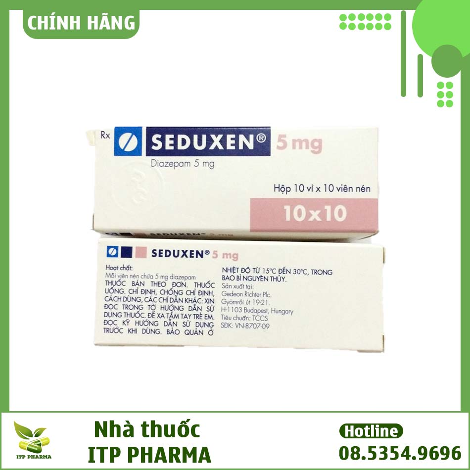 Hình ảnh hộp thuốc Seduxen