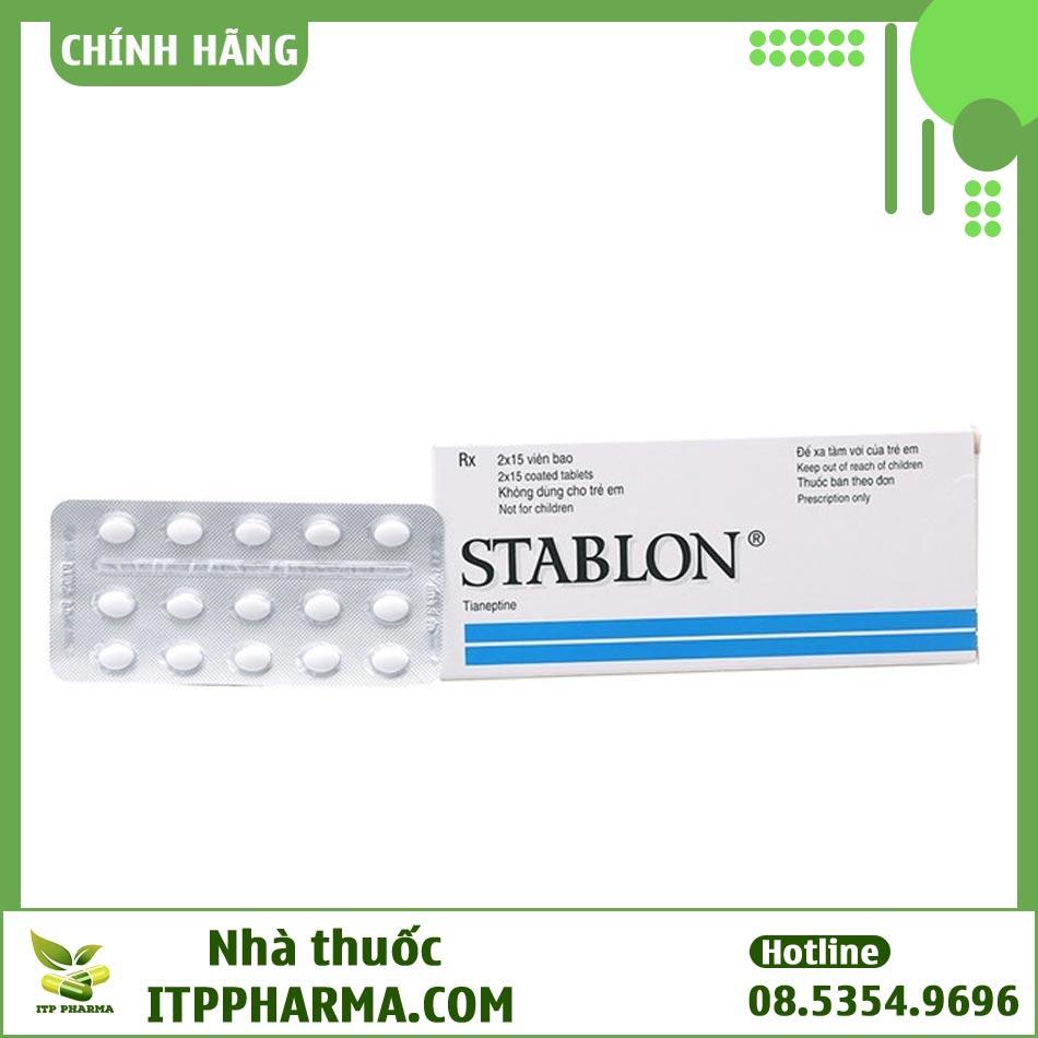 Vỉ thuốc Stablon chứa hoạt chất Tianeptine