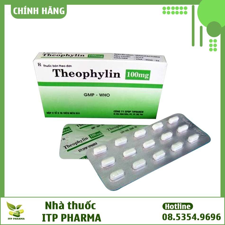 Hình ảnh hộp và vỉ thuốc Theophylin