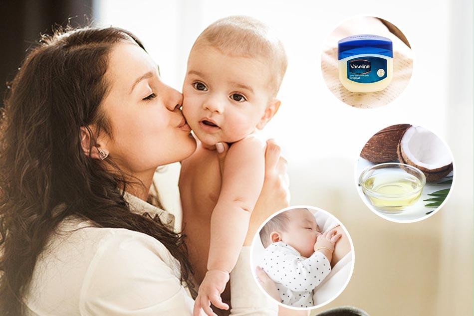 Cách trị khô môi ở trẻ sơ sinh