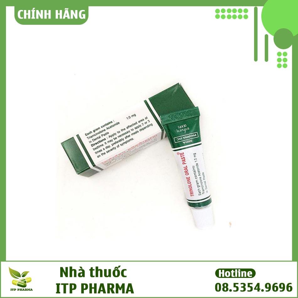 Hình ảnh sản phẩm kem bôi miệng Trinolone Oral Paste