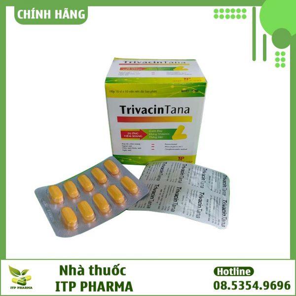 Hình ảnh hộp và vỉ thuốc TrivacinTana