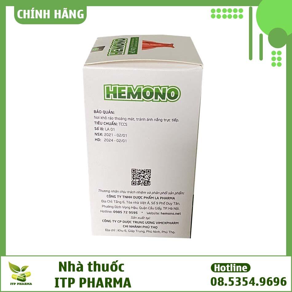 Hình ảnh hộp sản phẩm Hemono