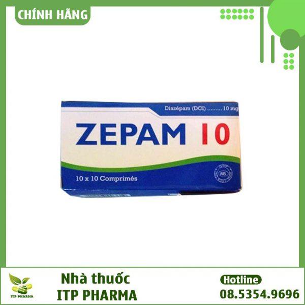 Hình ảnh hộp thuốc Zepam 10mg