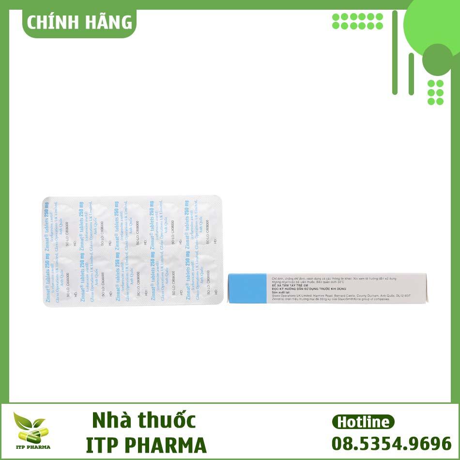 Hình ảnh hộp thuốc Zinnat 250mg