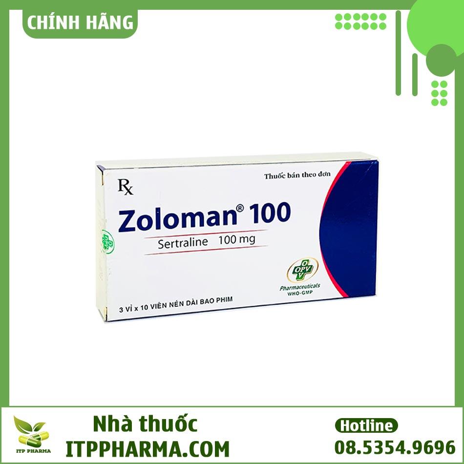 Công dụng của thuốc Zoloman 100mg