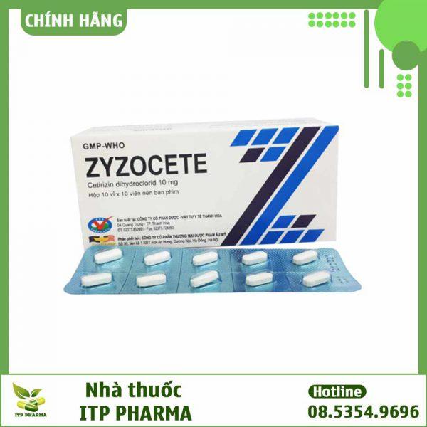 Hình ảnh hộp và vỉ thuốc Zyzocete