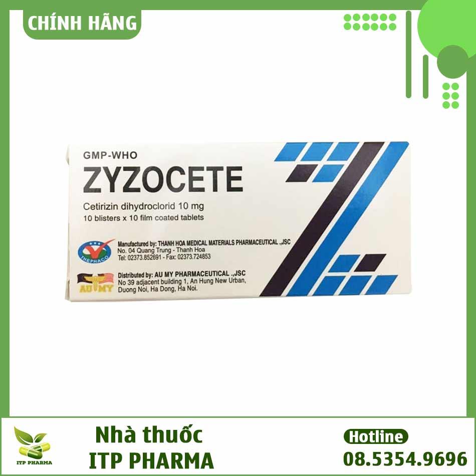 Hình ảnh của hộp thuốc Zyzocete 10mg