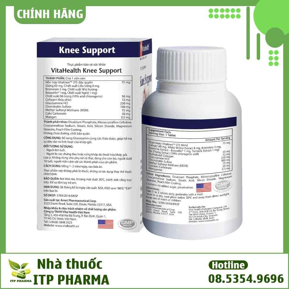 Thành phần của Knee Support