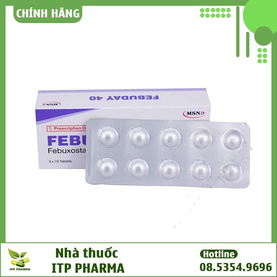 Hình ảnh hộp và vỉ thuốc Febuday 40