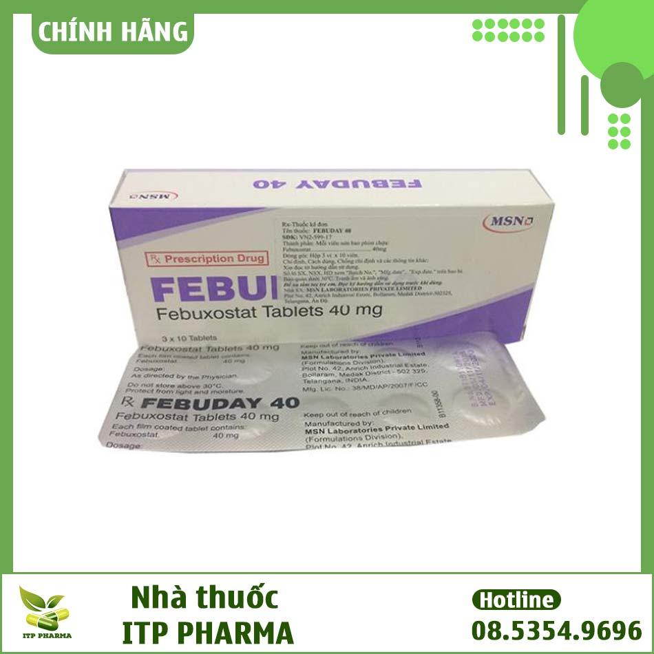 Thuốc điều trị Gout -Febuday 40