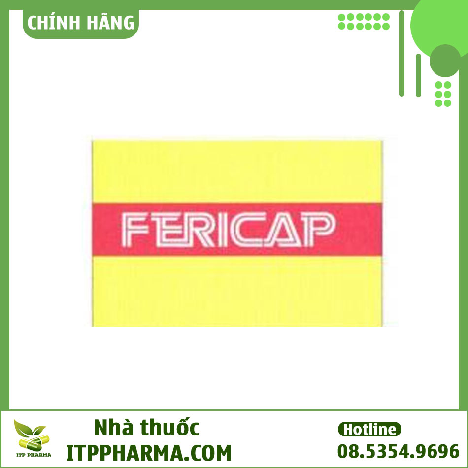 Mặt trên hộp thuốc Fericap