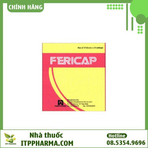 Hộp thuốc Fericap của Công ty Dược phẩm Nam Hà