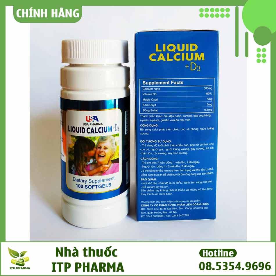Thành phần của Liquid Calcium D3