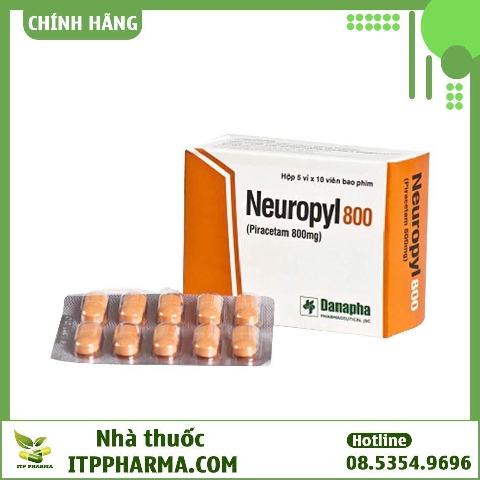 Vỉ thuốc Neuropyl 800mg