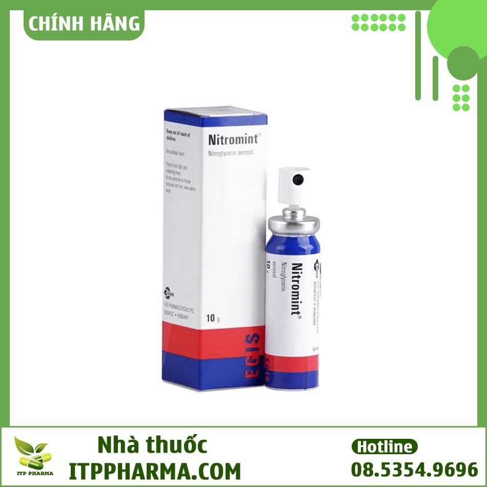 Thuốc Nitromint Nitroglycerin dạng khí dung