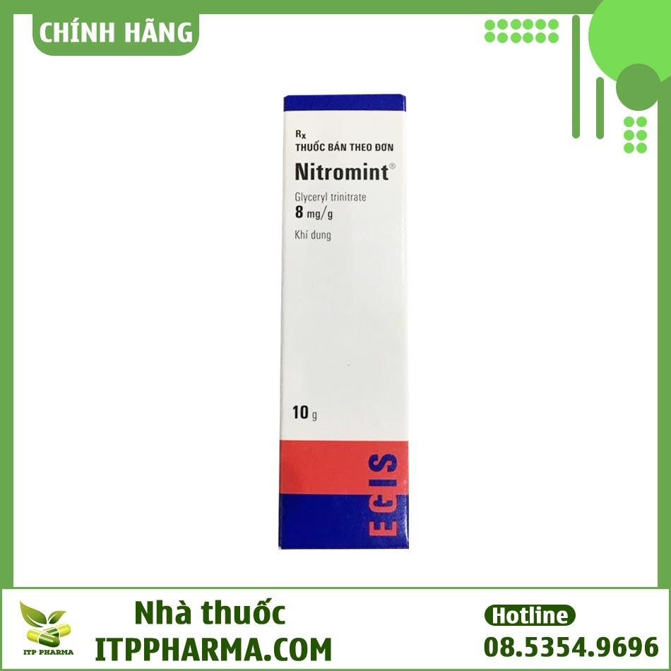 Thuốc xịt Nitromint Nitroglycerin điều trị cơn đau thắt ngực